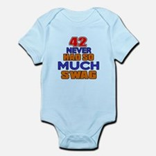 42 Never Had So Much Swag Infant Bodysuit