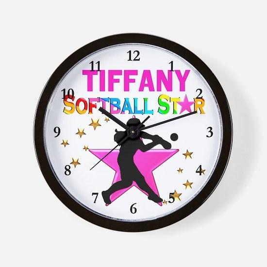 SOFTBALL STAR Wall Clock