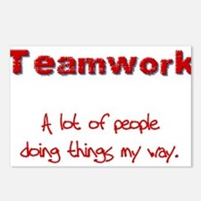 teamwrkred.png Postcards (Package of 8)
