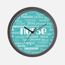 Nurse Adjectives Wall Clock