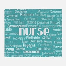 Nurse Adjectives Throw Blanket