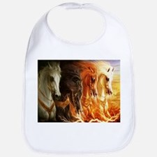 Abstract 3d Horses Bib