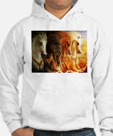 Abstract 3d Horses Hoodie
