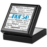Registered nurse Square Keepsake Boxes