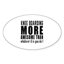 Knee Boarding More Awesome Designs Decal