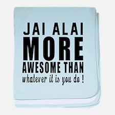 Jai Alai More Awesome Designs baby blanket