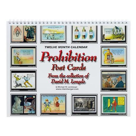 Prohibition Postcard Wall Calendar