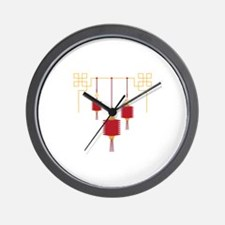 Chinese Lanterns Wall Clock