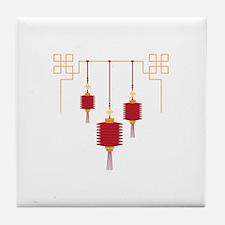 Chinese Lanterns Tile Coaster