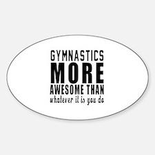 Gymnastics More Awesome Designs Decal