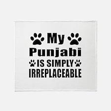 My Punjabi cat is simply irreplaceab Throw Blanket