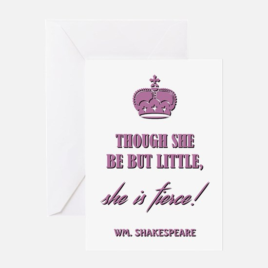 THOUGH SHE BE BUT... Greeting Card