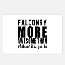 Falconry More Awesome Des Postcards (Package of 8)