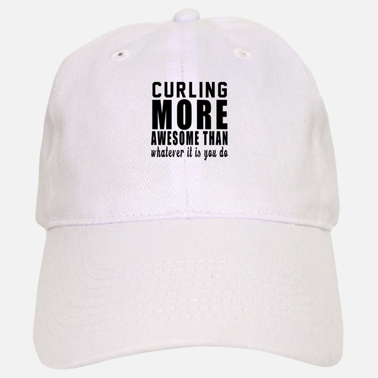 Curling More Awesome Designs Baseball Baseball Cap