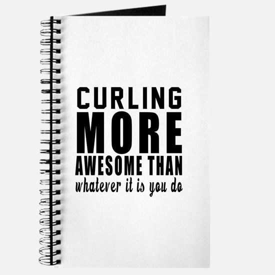 Curling More Awesome Designs Journal