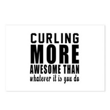 Curling More Awesome Desi Postcards (Package of 8)