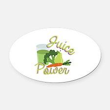 Juice Power Oval Car Magnet