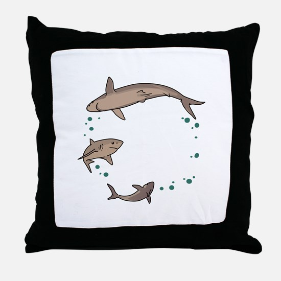 Shark Ring Throw Pillow