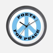 Poets For Peace Wall Clock