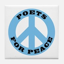 Poets For Peace Tile Coaster