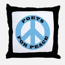 Poets For Peace Throw Pillow