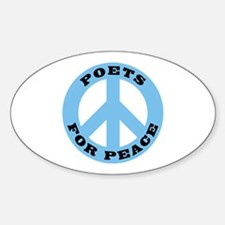 Poets For Peace Oval Decal
