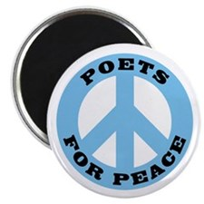 """Poets For Peace 2.25"""" Magnet (100 pack)"""