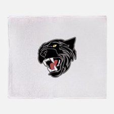 Panther Head Throw Blanket
