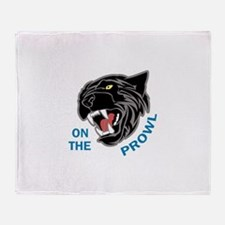 Panther On The Prowl Throw Blanket