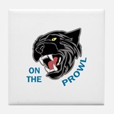Panther On The Prowl Tile Coaster
