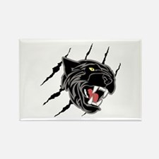 Panther Head Claw Marks Magnets