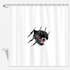 Panther Head Claw Marks Shower Curtain