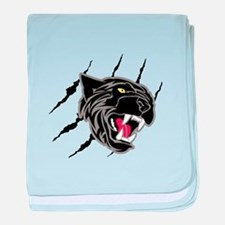 Panther Head Claw Marks baby blanket