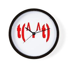 Rude Wall Clock