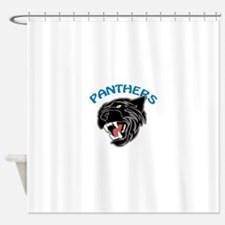 Team Panthers Shower Curtain