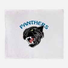 Team Panthers Throw Blanket