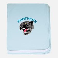 Team Panthers baby blanket