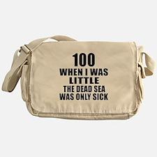 100 When I Was Little Birthday Messenger Bag