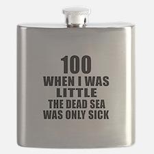100 When I Was Little Birthday Flask