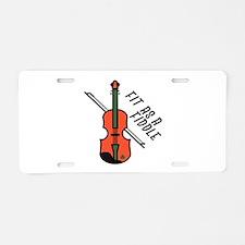 Fit As Fiddle Aluminum License Plate