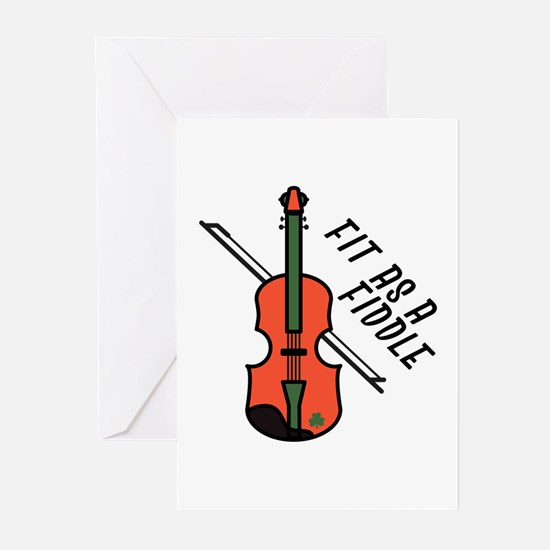 Fit As Fiddle Greeting Cards