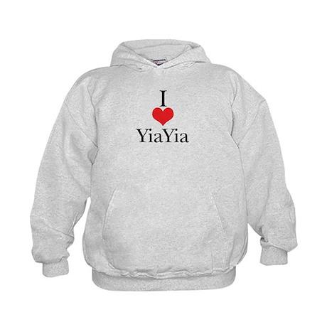 I Love (Heart) YiaYia Kids Hoodie