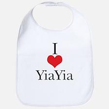 I Love (Heart) YiaYia Bib