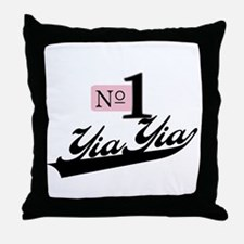 Number One YiaYia Throw Pillow