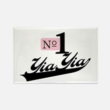 Number One YiaYia Rectangle Magnet