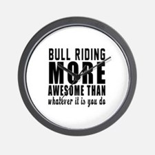 Bull Riding More Awesome Designs Wall Clock