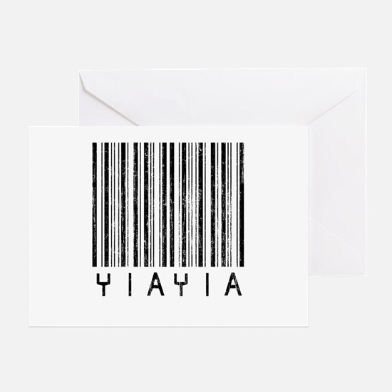 YiaYia Barcode Greeting Card