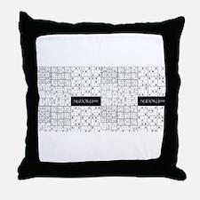 Cute Sudoku Throw Pillow
