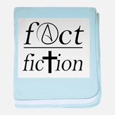 fact over fiction atheist religion sc baby blanket