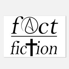 fact over fiction atheist Postcards (Package of 8)